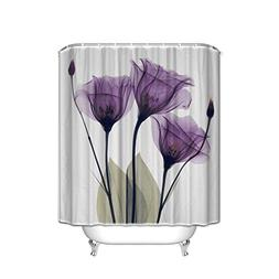 "Home Decor ""Lavender Hope"" Waterproof Fabric Shower Curtain"
