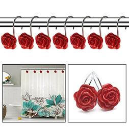 FINROS 12 PCS Home Fashion Decorative Anti Rust Shower Curta