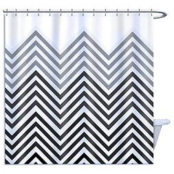 Home Goods Shower Curtain Polyester, Black Grey and White Pa