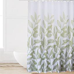 Eforcurtain Home Fashion Green Leaves Shower Curtain Fabric