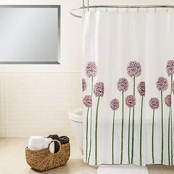 "Splash Home Allium Polyester Fabric Shower Curtain, 70"" x 72"