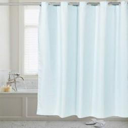 Sweet Home Collection Hookless Fabric Shower Curtain Waffle