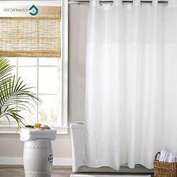 hookless polyester shower curtain by 70x74 inch