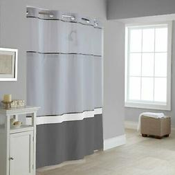 Hookless RBH40MY026 Color Block Shower Curtain with Peva Lin