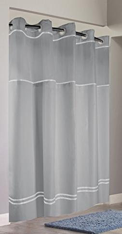 Hookless RBH40MY041 Monterey Shower Curtain -  Grey/White