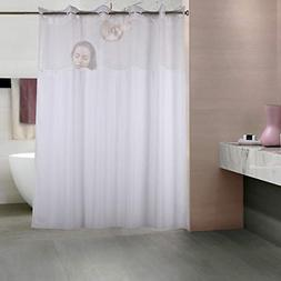YQN Shower Curtain (No Need Hooks with Removed Fabric Inne