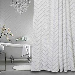 Aimjerry Hotel Quality Striped Fabric Shower Curtain for Bat