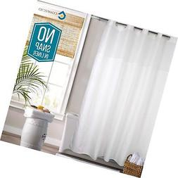 Hookless Shower Curtain by COMFECTO,  77x70 Inch Mold Milde.