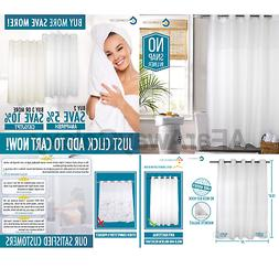 Hookless Shower Curtain by COMFECTO,  70x74 Inch Anti Bacte.