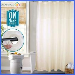 """Hookless Shower Curtain By NO SNAP IN LINER 77X70"""" Mold Mild"""