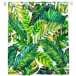 Goodbath Hookless Shower Curtains by, Banana Leaves Floral F
