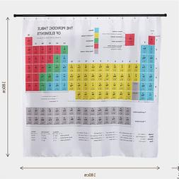 Hot New Periodic Table of Elements Bathroom <font><b>Curtain