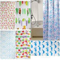 Hot Shower Curtain Bathroom Waterproof Polyester Fabric Rand