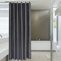 Aoohome Hotel Fabric Shower Curtain Liner, Solid Bathroom Cu