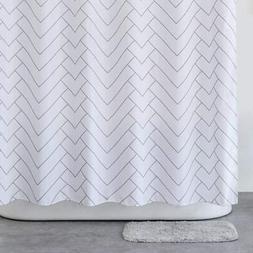 Aimjerry Hotel Quality Fabirc Shower Curtain White for Bathr