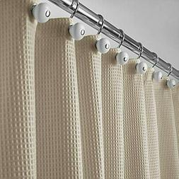 MDesign Hotel Quality Polyester/Cotton Blend Fabric Shower C