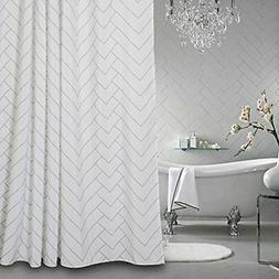 Aimjerry Hotel Quality White Striped Mold Resistant Fabric S