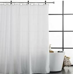 Aimjerry Hotel Quality White Waterproof Fabric Shower Curtai