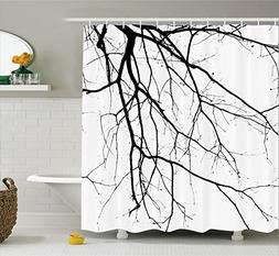 Ambesonne House Decor Shower Curtain Set, Close Up Shot of L