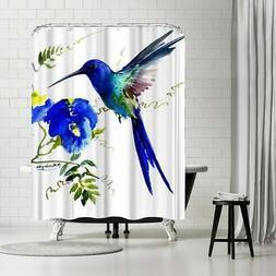 Americanflat 'Hummingbird 2' Shower Curtain White N/A