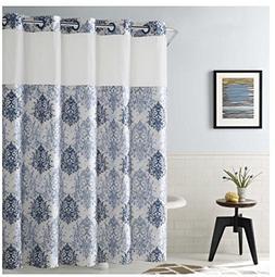 Ikat Shower Curtain  in Estate Blue