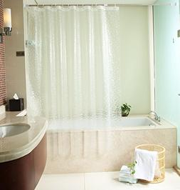 Uforme Bath Stall Size Shower Curtain Liner Waterproof and M