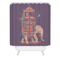 Beautiful Indian Elephant Shower Curtain African Bohemian Pu