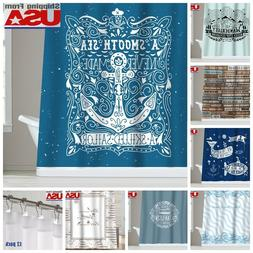 Inspirational Quotes Waterproof Fabric Shower Curtain Bathro