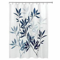 "InterDesign Leaves Fabric Shower Curtain, Standard 72"" x 72"""
