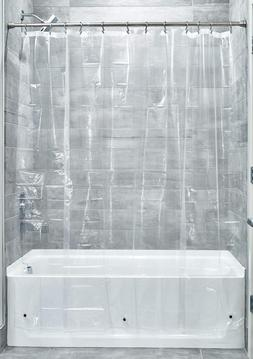 Shower Curtain Bathroom Decor Clear Liner 72 x 96 Inch Water