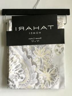 Tahari Home Isabella Medallion White Gray Yellow Fabric Show