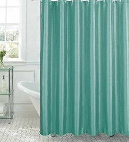 Creative Home Ideas Jane Faux Silk Shower Curtain with 12 Me