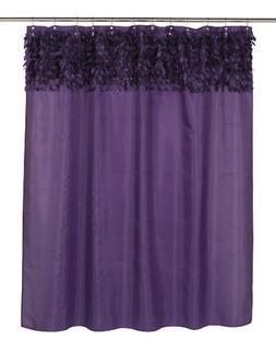 Carnation Home Fashions Jasmine Fabric Shower Curtain, Purpl