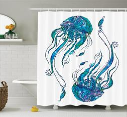 Ambesonne Jellyfish Decor Collection, Jellyfish Shaped with