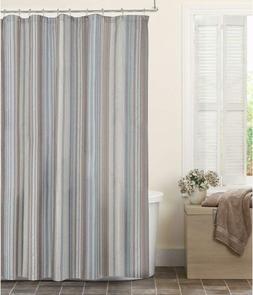 Maytex Jodie Chenille Striped Fabric Shower Curtain, 72X72