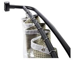 JS Jackson Supplies Double Curved Shower Rod, Metal Construc