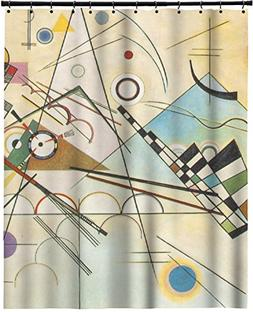 RNK Shops Kandinsky Composition 8 Extra Long Shower Curtain