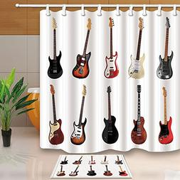 KOTOM Kids Love Music Decor, Electric Guitars in White, 69X7