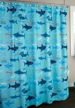 SKL Home Kids Totally Jawsome Shower Curtain - Ocean, Sharks