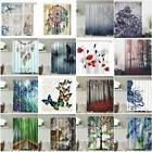 waterproof fabricbathroom shower curtain nature scenery pane