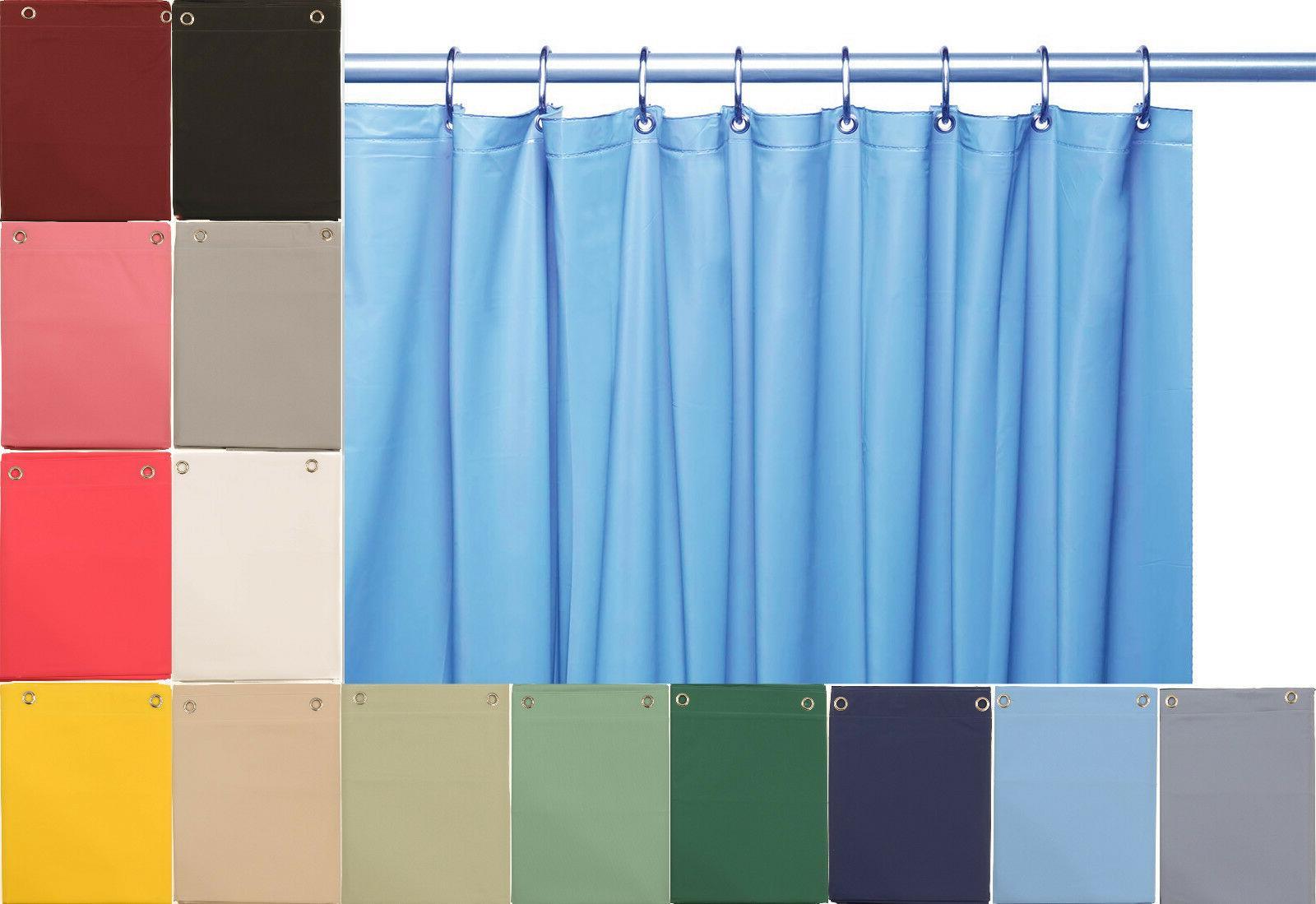 10 mil heavy duty vinyl shower curtain