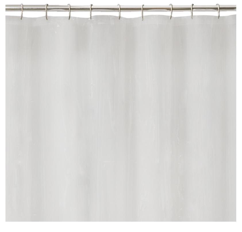 100% Peva Solid Bath Tub Shower Curtain Liner Mildew Resista