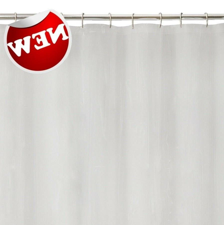 100% Solid Tub Shower Curtain Liner Mildew Resistant 72in x