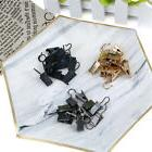 10x Stainless Steel Windows Shower Curtains Rod Clips Hook C