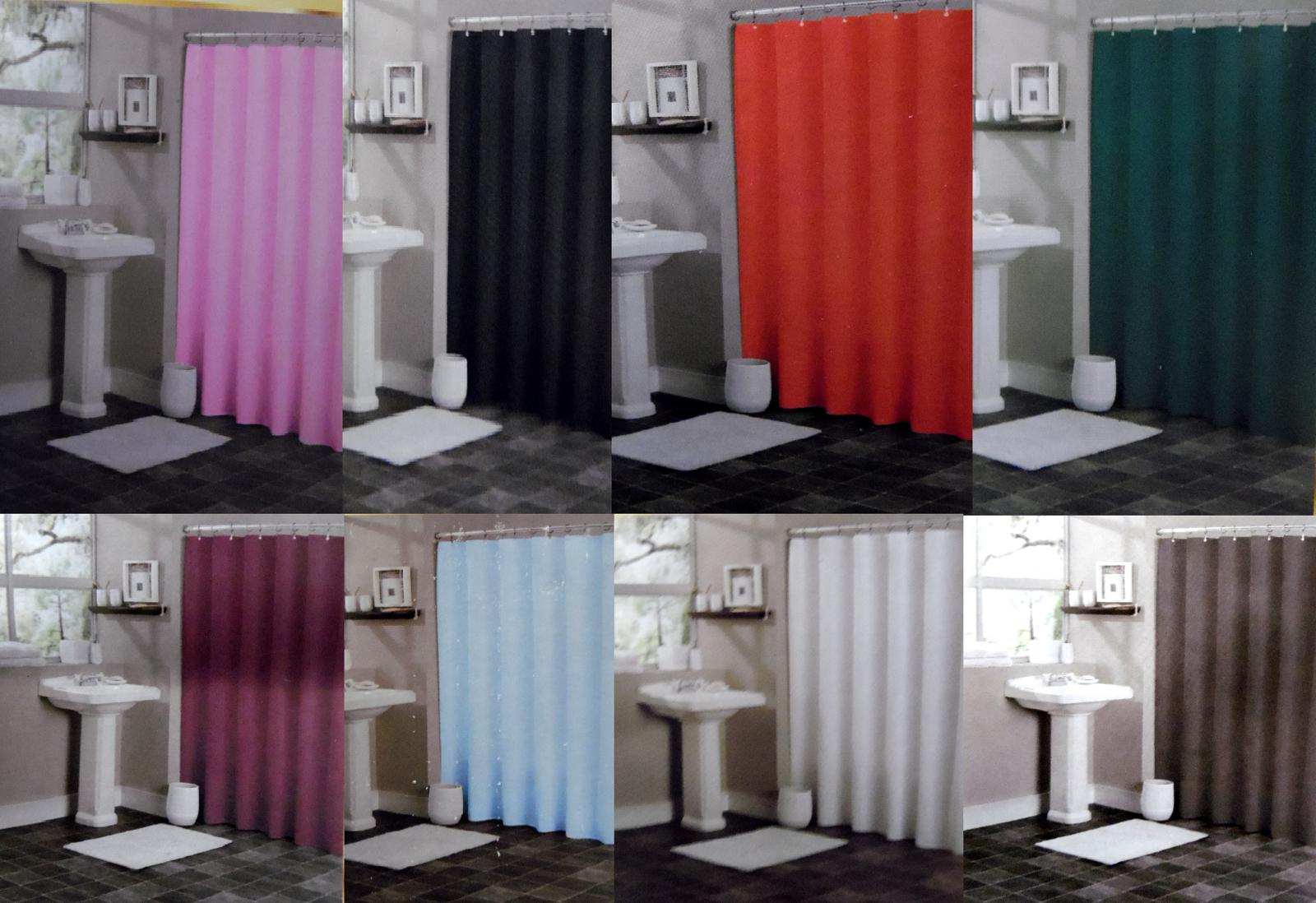 1PC BATHROOM PLASTIC SHOWER CURTAIN SOLID LINER IN MANY COLO