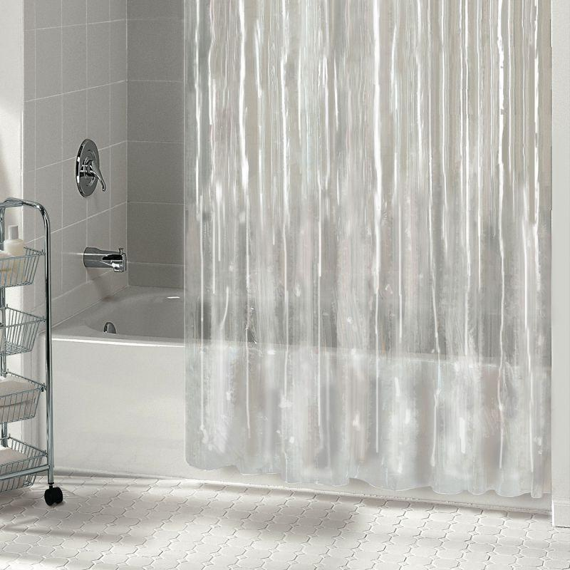 1pc solid vinyl bathroom shower curtain liner