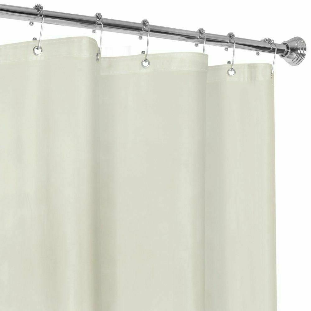 Heavyweight Vinyl Shower Curtain W/Magnets Metal Grommets