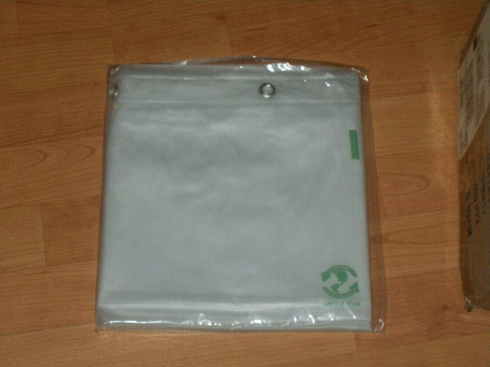 "Shower Curtain Liner Clear Frost 72""X72"" Mildew Resistant EV"
