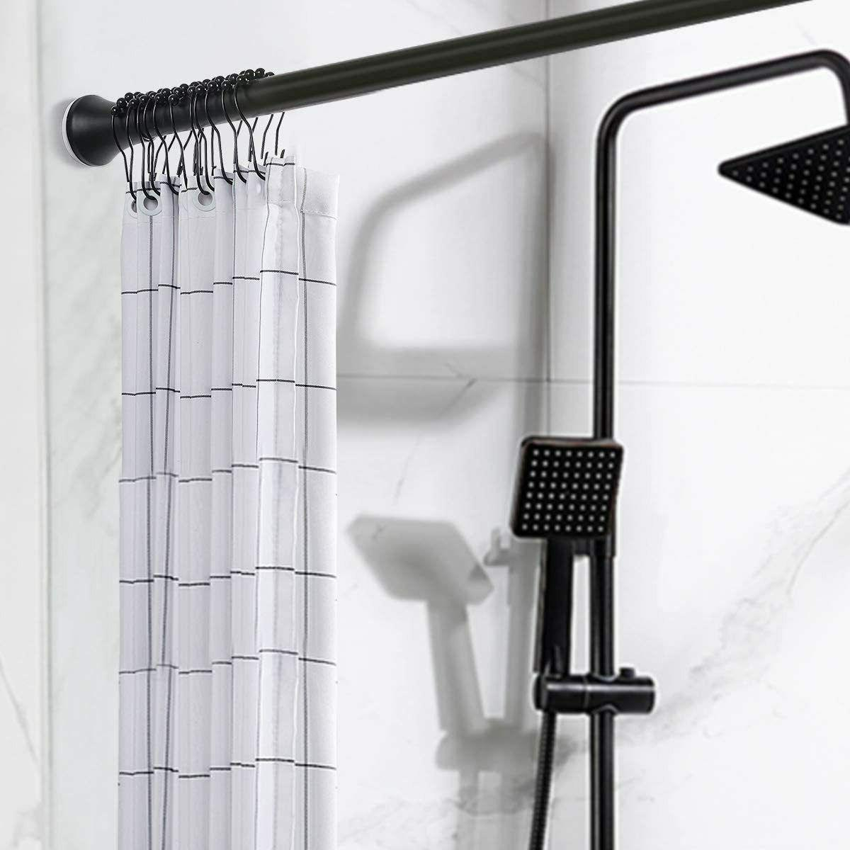 "47""-78"" Adjustable Spring Tension Shower Curtain Rod Rust Pr"