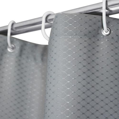Waterproof Thicken Fabric Shower Curtain Liner Set Weighted